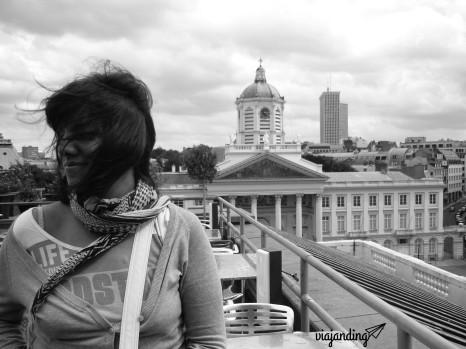 En el mirador del edificio