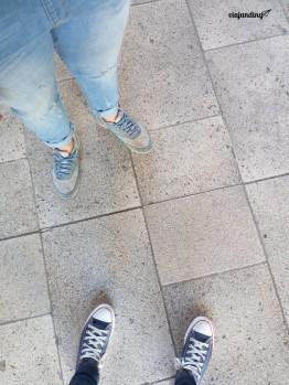 Con mi hermana en Santiago