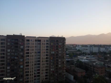 Amanecer con la cordillera de fondo, Santiago