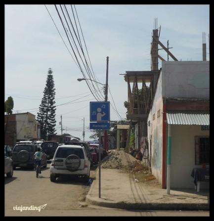 La señalización de Puerto López