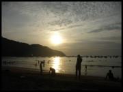 Un atardecer en Puerto López
